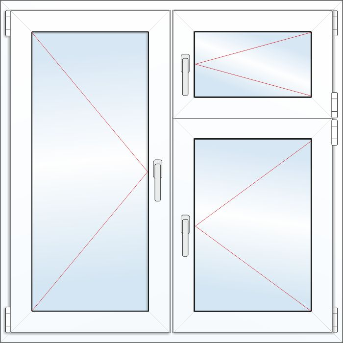 Схема форточек пластиковых окон