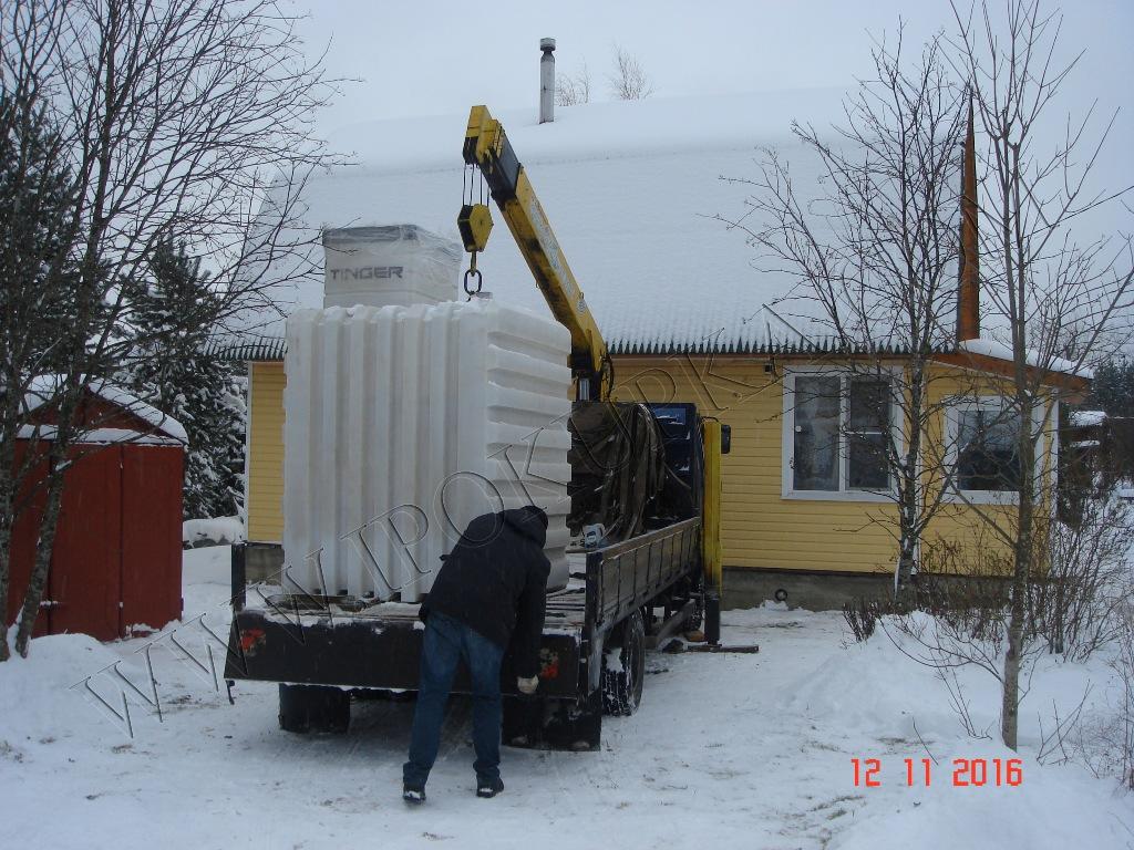 Установка погреба зимой