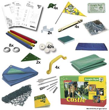 castle комплект детской площадки в коробке